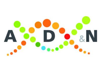 Logo AD&N sans slogan sur fond carré blanc