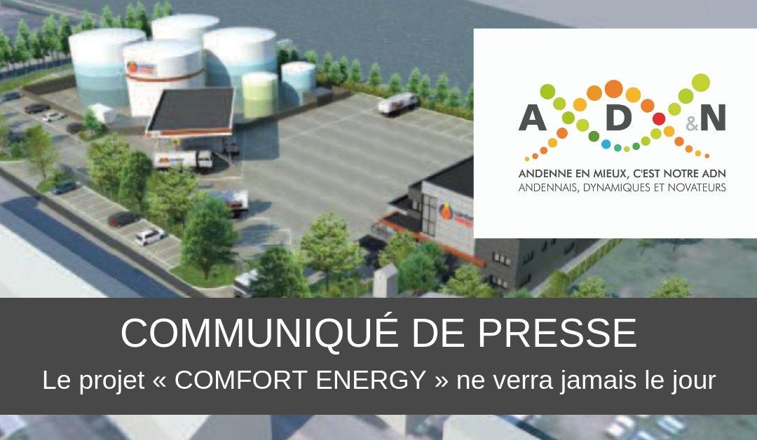 Le projet « COMFORT ENERGY » ne verra jamais le jour