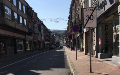 Difficultés pour accéder au centre-ville pendant les travaux chaussée de Ciney